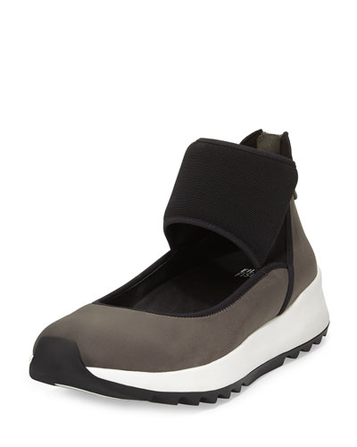 Walk Neoprene Ankle-Wrap Sneaker, Graphite