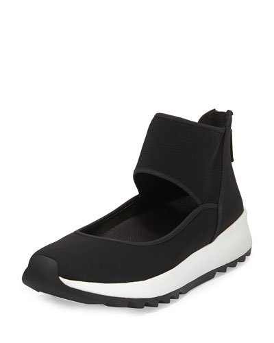 Walk Neoprene Ankle-Wrap Sneaker, Black