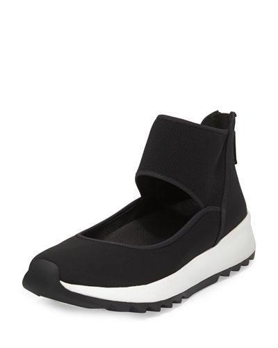 Walk Neoprene Ankle-Wrap Sneaker, Black