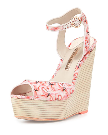 Sophia Webster Lula Dreamy Flamingo Wedge Sandal, Pink