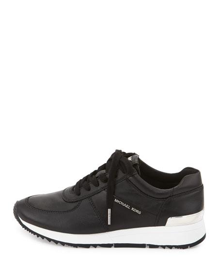 Allie Leather Trainer Sneaker, Black