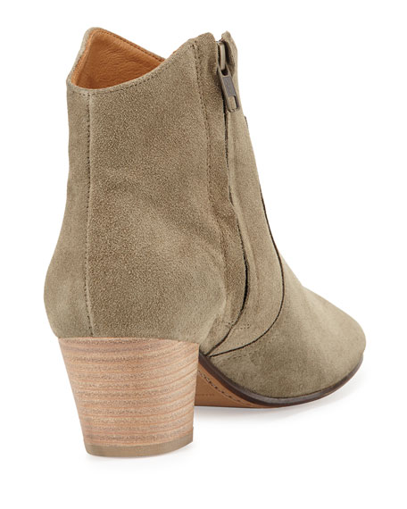 Dicker Suede Western Bootie, Taupe