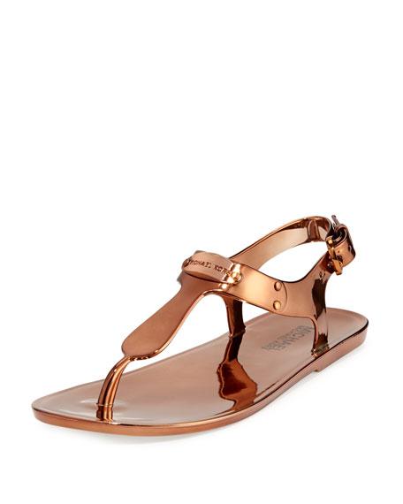 MK Plate Jelly Sandal, Copper