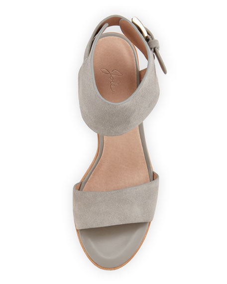 Opal Leather High-Heel City Sandal, Dove