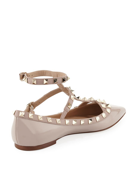 Rockstud Patent Caged Ballet Flat