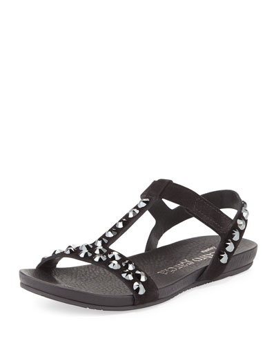 Jeril Crystal Sandal, Black