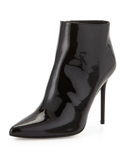 HiTimes Patent Ankle Boot, Black