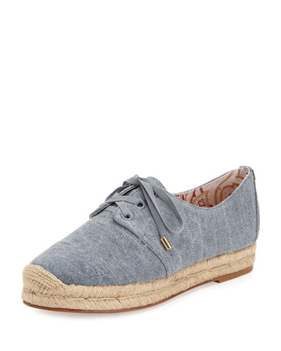 Wallie Denim Espadrille Sneaker, Denim