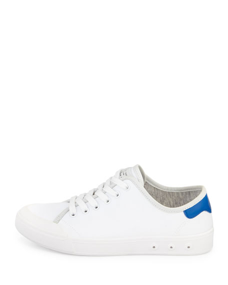 Standard Issue Canvas Lace-Up Sneaker, White/Blue
