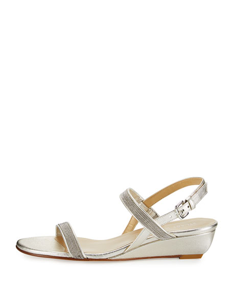 Inchains Leather Demi-Wedge Sandal