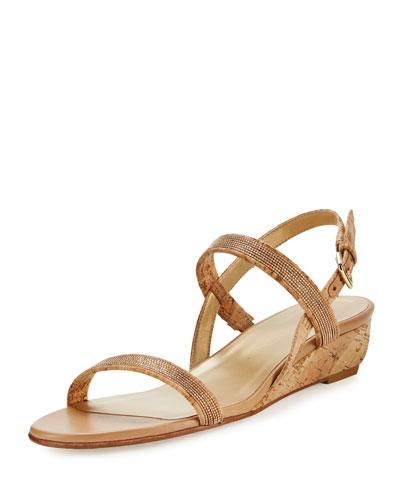 Inchains Cork Demi-Wedge Sandal, Natural