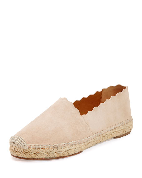 Chloe Scalloped Suede Espadrille... discount authentic online the cheapest cheap online very cheap price in China cheap online buy cheap wholesale price 9eV8Z