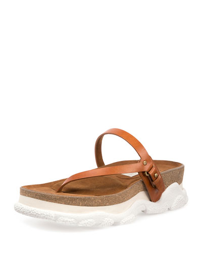 Altea Faux-Leather Thong Sandal, Canyon