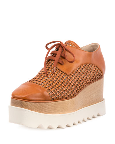 Elyse Woven Platform Oxford, Canyon/Bourbon