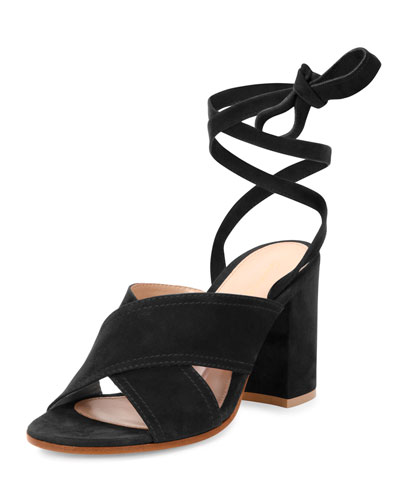 Camoscio Crisscross 85mm Mule, Black