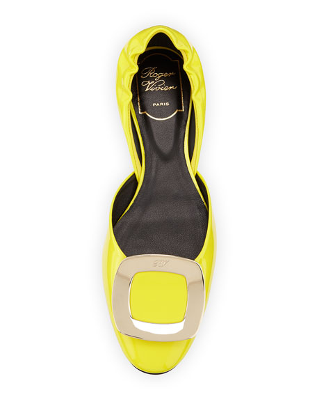 Ballerine Chips d'Orsay Flat, Yellow