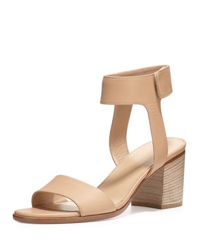 Josslyn Leather City Sandal, Nude