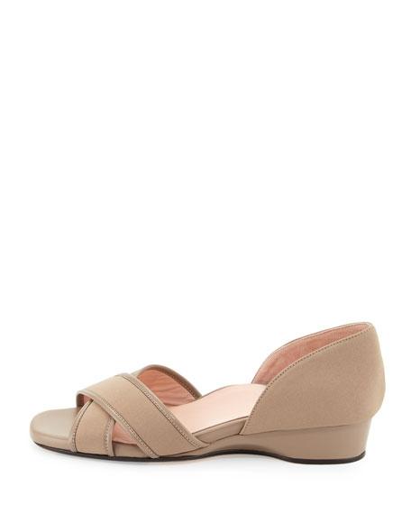 Kaida Crisscross Demi-Wedge Sandal, Quartz