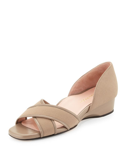 Kaida Crisscross Demi-Wedge Sandal, Quartz