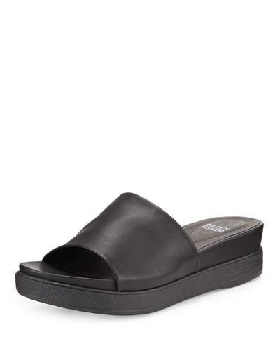 Scout Leather Single-Band Sandal, Black