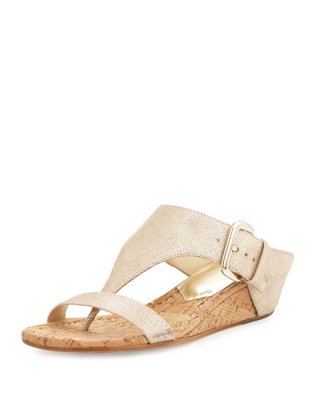 Donald J Pliner Doli Demi-Wedge Slide Sandal, Light