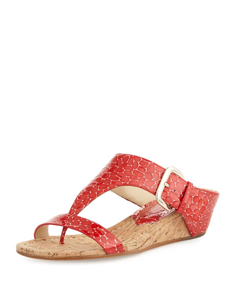 Donald J Pliner Doli Demi-Wedge Slide Sandal, Chili