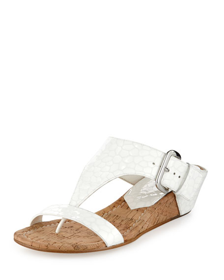 Donald J Pliner Doli Demi-Wedge Slide Sandal, White