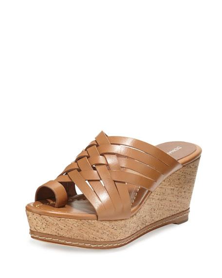 Donald J Pliner Flore Woven Platform Wedge Sandal, Desert