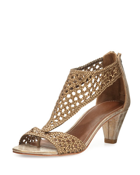 Donald J Pliner Verona Woven Leather Sandal, Bronze