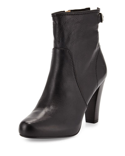 Marissa Short Leather Boot, Black