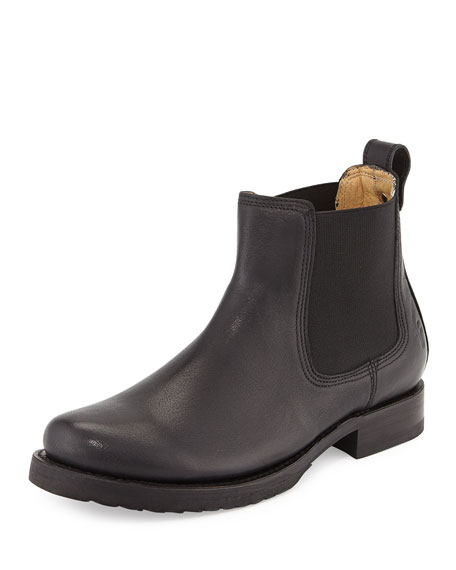 Veronica Leather Chelsea Boot, Black