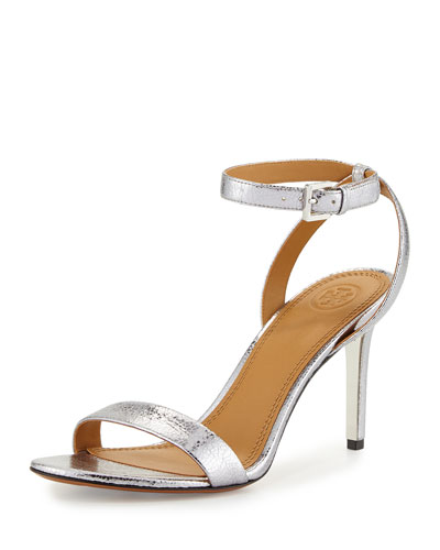 Elana Metallic 85mm Sandal, Pewter