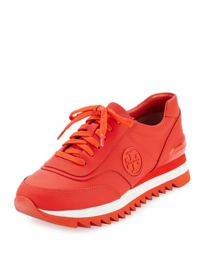 Sawtooth Logo Trainer Sneaker, Poppy Red