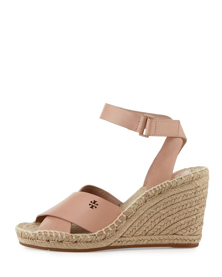 Bima Leather Wedge Espadrille Sandal