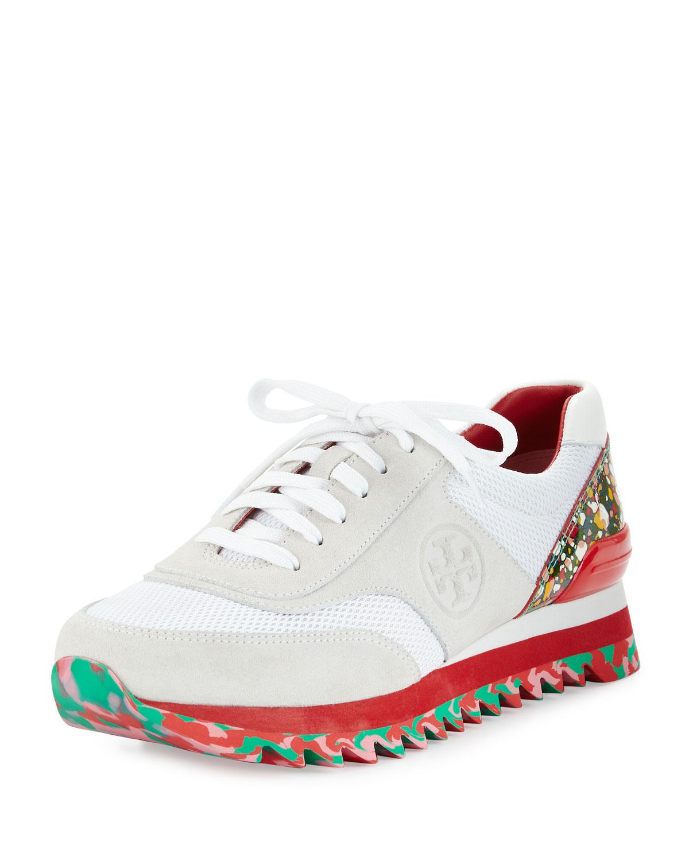 550292ddc Tory Burch Festival Sawtooth Logo Trainer Sneaker