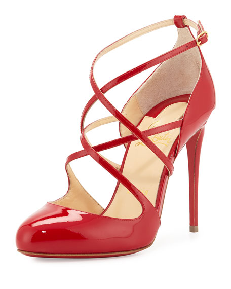 Christian Louboutin Soustelissimo Strappy Red Sole Pump, Red