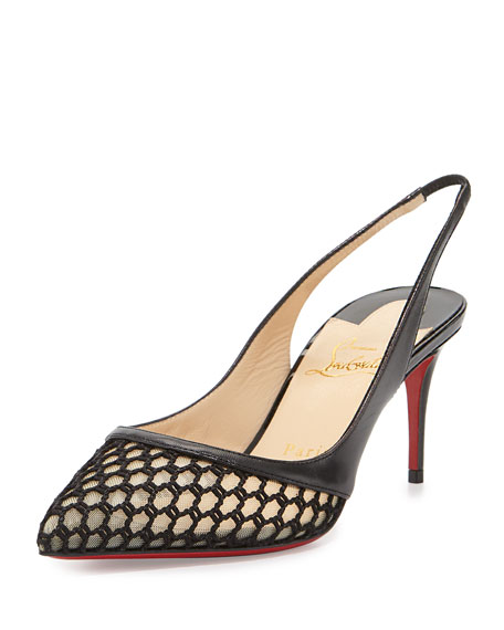 Christian LouboutinMiluna Low-Heel Slingback Red Sole Pump, Black