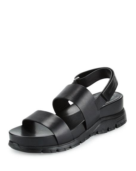 Cole Haan ZeroGrand™ Leather Slingback Sandal, Black