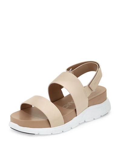 ZeroGrand™ Leather Slingback Sandal, Sandshell