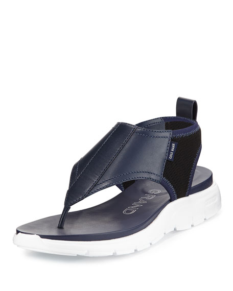 Cole Haan ZeroGrand™ Leather/Mesh Thong Sandal, Twilight