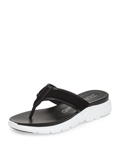 ZeroGrand™ Mesh Thong Sandal, Black