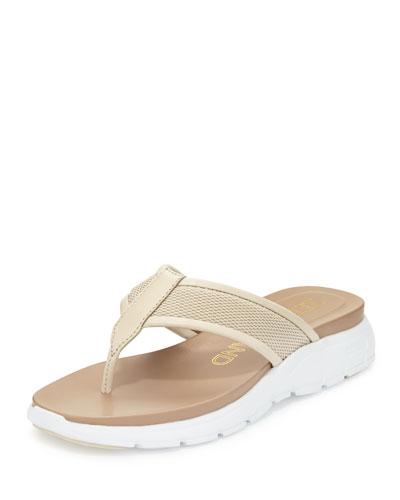 ZeroGrand™ Mesh Thong Sandal, Sandshell