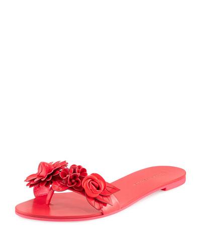 Lilico Floral Slide Sandal, Fluorescent Pink
