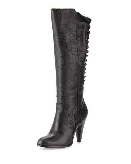 Frye Mikaela Twisted Tall Leather Boot, Black
