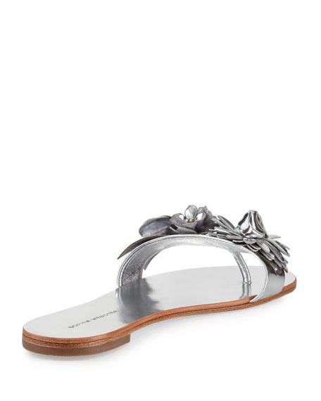 Lilico Floral Slide Sandals, Silver