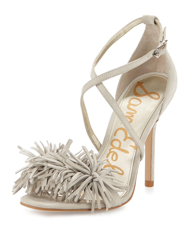 28b1f628a Sam Edelman Aisha Suede Fringe High-Heel Sandal