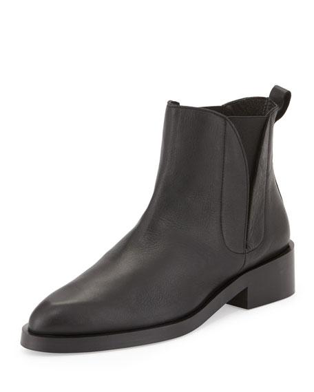 Paulette Leather Bootie, Black