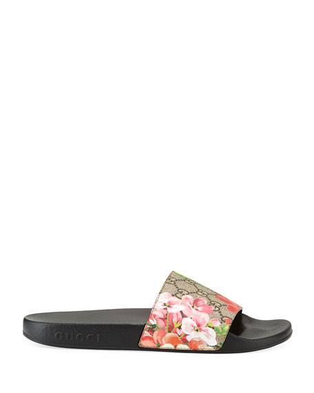GG Blooms Supreme Slide Sandal, Ebony/Multi
