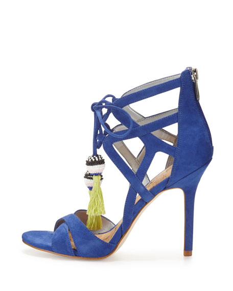 Azela Strappy Tassel Sandal, Sailor Blue