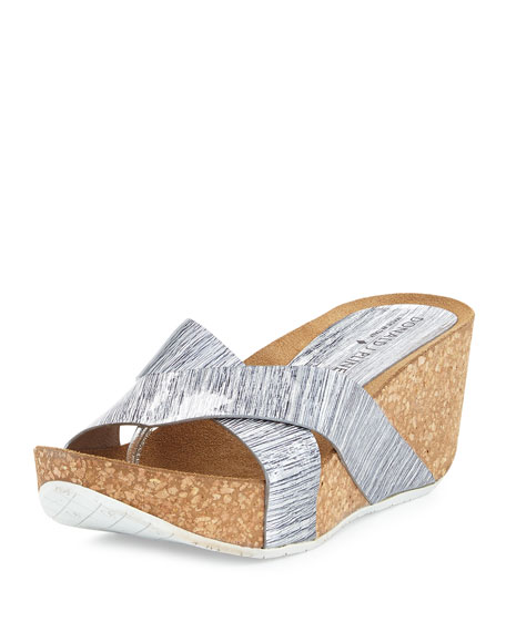 Donald J Pliner Gallo Crisscross Wedge Thong Sandal,
